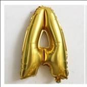 Фольгированный ШАР-БУКВА  А высотой 40 см цвет : золото