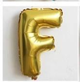 Фольгированный ШАР-БУКВА  F высотой 40 см цвет : золото