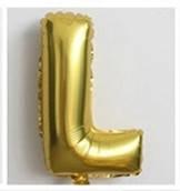 Фольгированный ШАР-БУКВА  L высотой 40 см цвет : золото