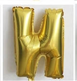 Фольгированный ШАР-БУКВА  N высотой 40 см цвет : золото