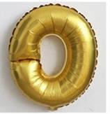 Фольгированный ШАР-БУКВА  O высотой 40 см цвет : золото