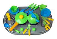 Плита с мойкой и посудой. в кор  04-411 DK