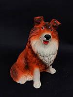 Садовая фигура Собака большая рыжая