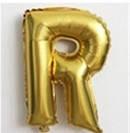 Фольгированный ШАР-БУКВА  R высотой 40 см цвет : золото