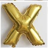 Фольгированный ШАР-БУКВА  X высотой 40 см цвет : золото