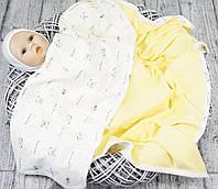 Плед-покрывало лето для деток Капитошка желтый
