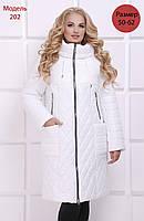 Женское зимнее пальто М-202, белый (р.50-62)