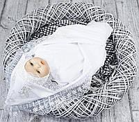Крестильная пеленка летняя (белая)