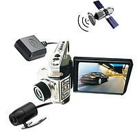 Видеорегистратор на 2 камеры c GPS DVR P9 DX
