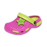 Детская пляжная обувь Calypso 0152-004 роз/сал