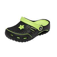 Детская пляжная обувь Calypso 0154-001 чер/зел