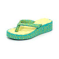 Детская пляжная обувь Bitis 14948 зел/жел