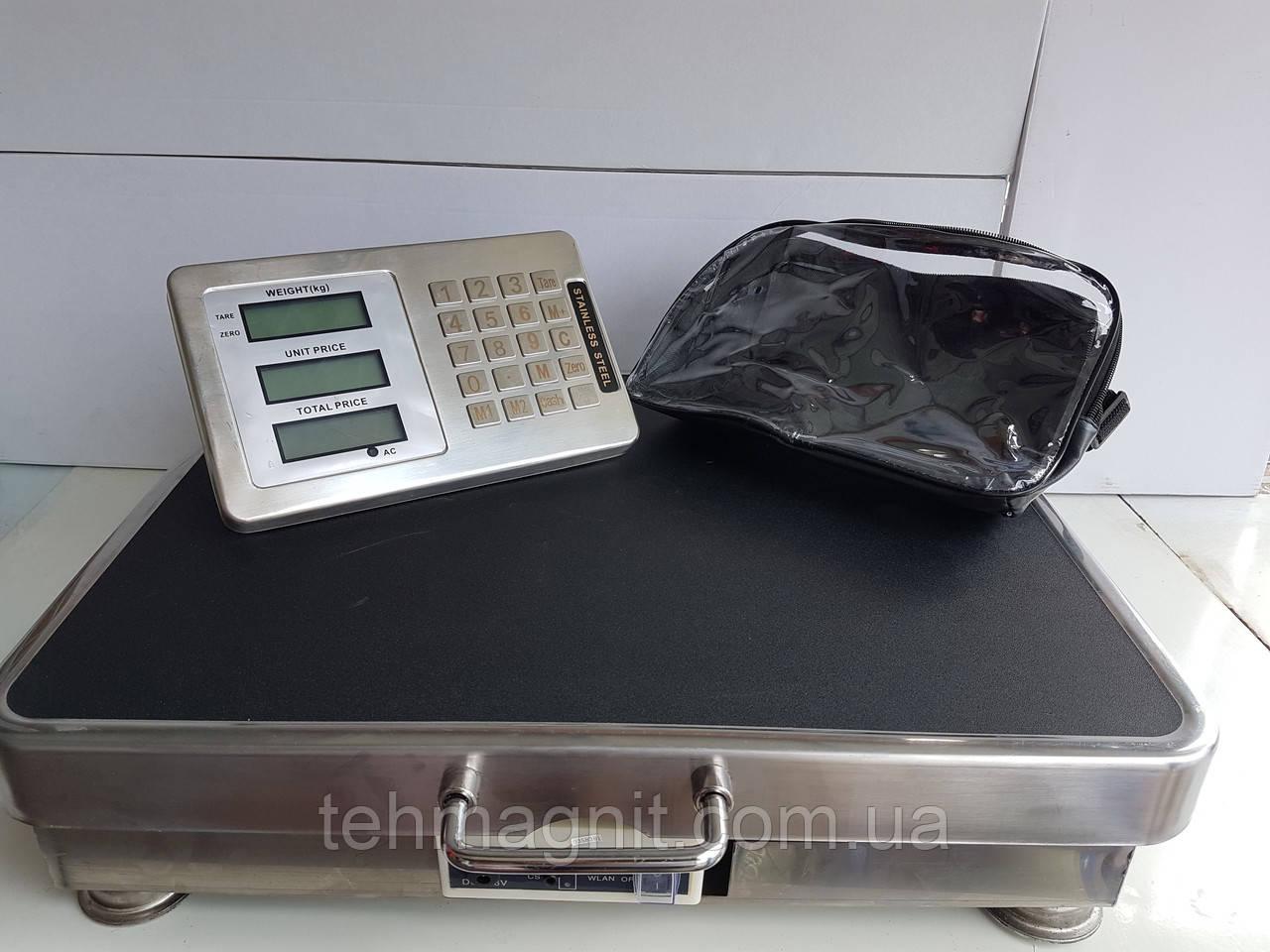 Беспроводные электронные торговые весы до 300 кг с Bluetooth, платформенные, промышленые весы