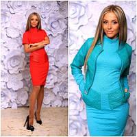 Женский костюм: платье+жакет №232 (р.42-46)
