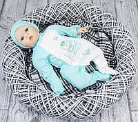 Человечек лето новорожденному из ажура с шапкой ТМ Ля-ля