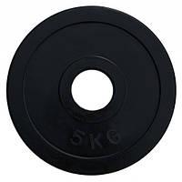 RCP11-5 Диск олимпийский обрезиненный черный 5кг (51 мм)