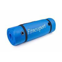 Коврик гимнастический Fitnessport 1800x600x15mm(синий)
