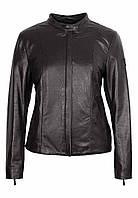 Черная женская куртка натуральная кожа