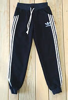 Спортивные штаны темно синие полоска  на мальчика Adidas на рост 134 см, 140 см, 146 см, 152 см, 158 см, 164