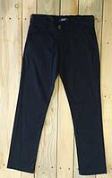 Штаны котоновые брюки для мальчиков темно синие Турция на возраст 13-16 лет