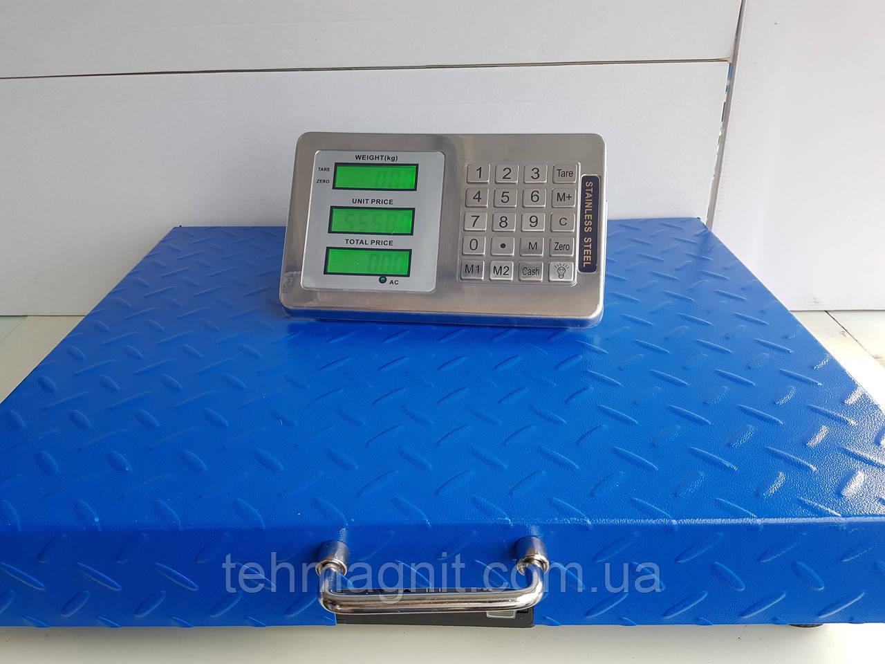 Весы торговые беспроводные с Bluetooth 300 кг (45х60 см)