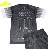 Детско-подростковая (6-16 лет) футбольная форма ''Месси''- ФК''Барселона'' (2012/2013) - черная, резервная