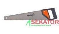 Ножовка по дереву, каленый зуб, деревянная рукоятка, 450 мм, Sparta