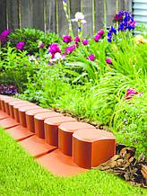 Бордюр садовый декоративный Palisada h 6см теракотовий