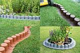 Бордюр садовый декоративный Palisada h 6см теракотовий, фото 3