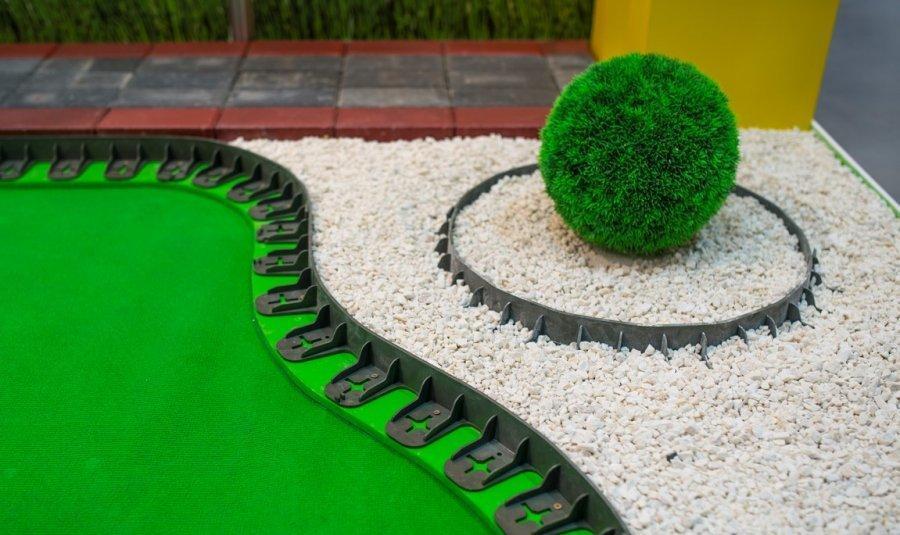 Бордюр пластмасовый тротуарный h 4,5 см (1000 мм)