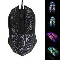 [ Игровая мышка Vakind 3D с подсветкой 2400 dpi ] Проводная светодиодная оптическая мышь