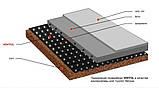 Гидроизоляционная шиповидная геомембрана Ventfol 400 г/м.кв. Рулон 1х20м., фото 3