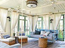 Тканевые шторы для веранды, террасы, фото 2
