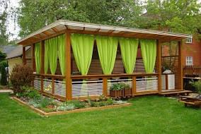 Тканевые шторы для веранды, террасы