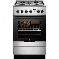Кухонная плита ELECTROLUX EKK 54552OX, газово-електрична