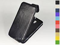 Откидной чехол из натуральной кожи для HTC Desire 620G Dual Sim