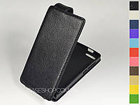 Откидной чехол из натуральной кожи для Huawei Ascend P7 mini