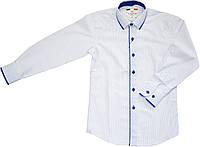 Рубашка школьная на мальчика белая ТМ Lagard Kids размер  152 158