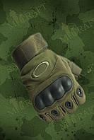 Тактические перчатки Oakley (беспалые,олива)