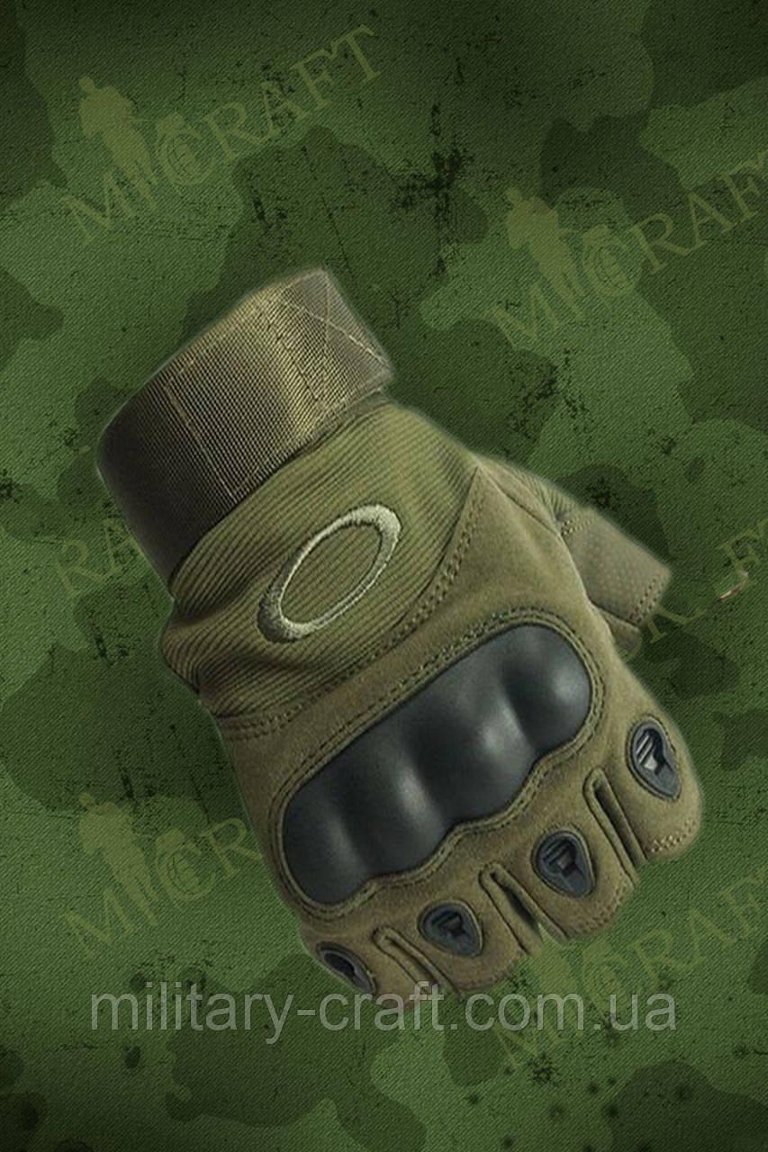 Тактические перчатки Oakley (беспалые,олива) - M-craft в Золочеве