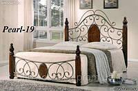 Кровать металлическая Pearl-19 двухспальная 1,6