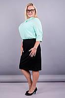 Пион. Офисная юбка супер сайз. Черный., фото 1