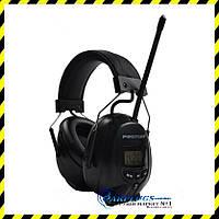 Наушники с AM/FM радио Protear + кабель, black.