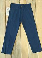 Штаны котоновые брюки с поясом для мальчиков светло синие Турция на возраст 9-12 лет