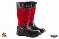 Bulgaria Красные с ремешком высокие Girl boots