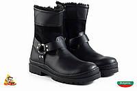 Bulgaria Чорные Children boots