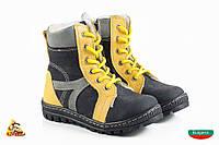 Bulgaria Чорно жолтые шнуровка Baby boots