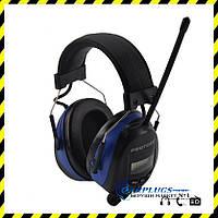 Наушники с AM/FM радио Protear + кабель, blue.
