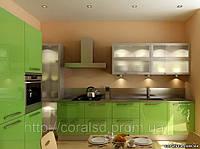 Кухни с пластиковыми фасадами.