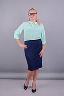 Пион. Интересная юбка супер батал. Синий.